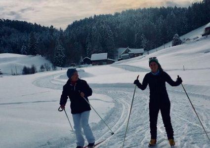 Pilates auf den Langlauf-Skis…